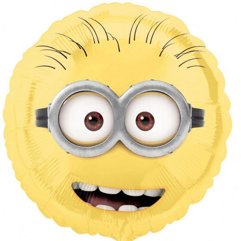 Image of 18 Inch Despicable Me Minions Foil Balloon (One Size) (Yellow/Black) - Amscan