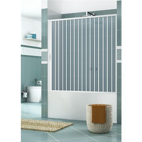 AMSTBIAL160 Box Vasca in PVC, dim. 160 cm x H 150 cm, a un lato, anta unica, con apertura laterale.