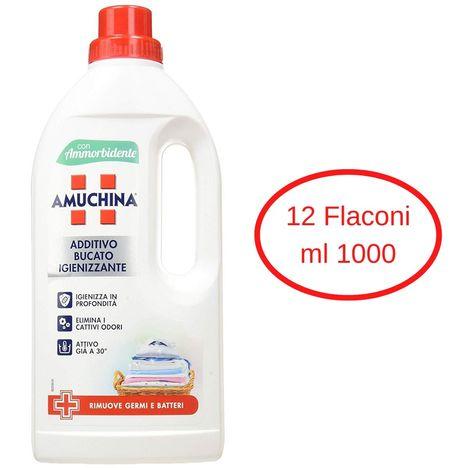 Amuchina additivo bucato igienizzante confezione 12 flaconi da litri 1