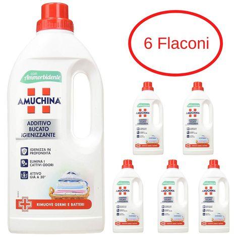 Amuchina additivo bucato igienizzante confezione 6 flaconi da litri 1