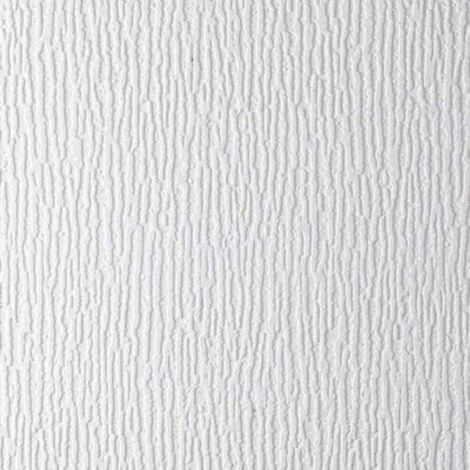 Anaglypta Sherwood White Paintable Stripe Wallpaper Vinyl Embossed Textured
