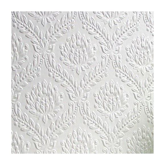 Image of Damask Wallpaper Paintable Luxury Textured Embossed Vinyl Dryden Anaglypta