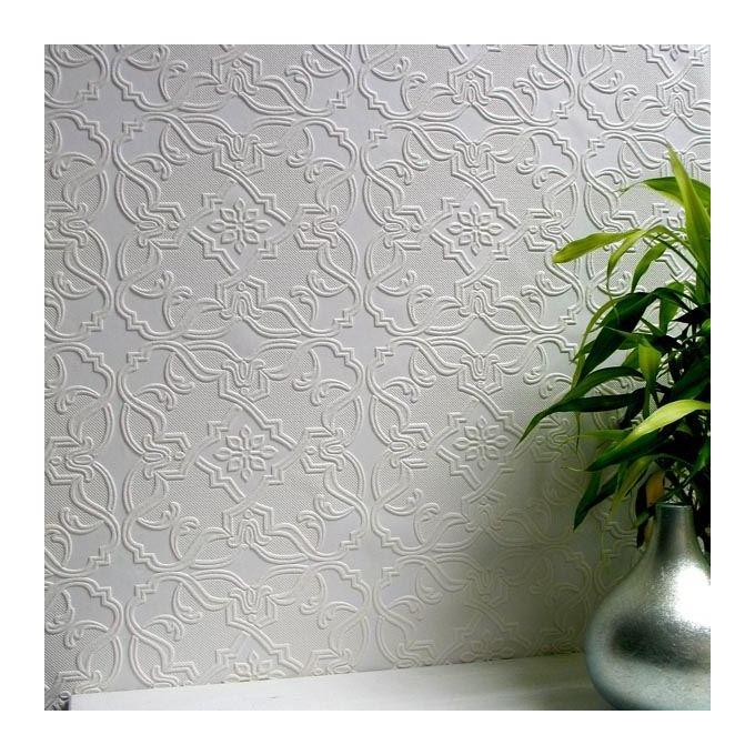 Image of Paintable Anaglypta Wallpaper Luxury Textured Embossed Vinyl Easy Apply Maxwell