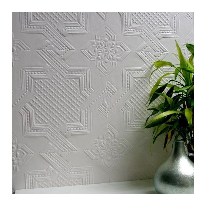Image of Paintable Wallpaper Luxury Textured Vinyl Embossed Durable Seymour Anaglypta