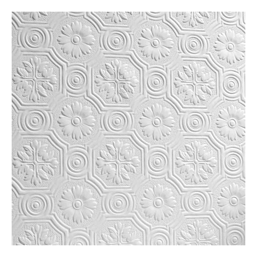 Image of Flower Wallpaper Paintable Luxury Embossed Textured Vinyl Spencer Anaglypta