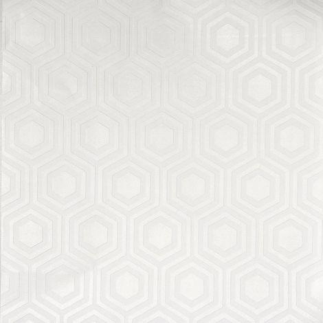 Anaglypta White Paintable Geometric Hexagon Wallpaper Vinyl Paste Wall Embossed