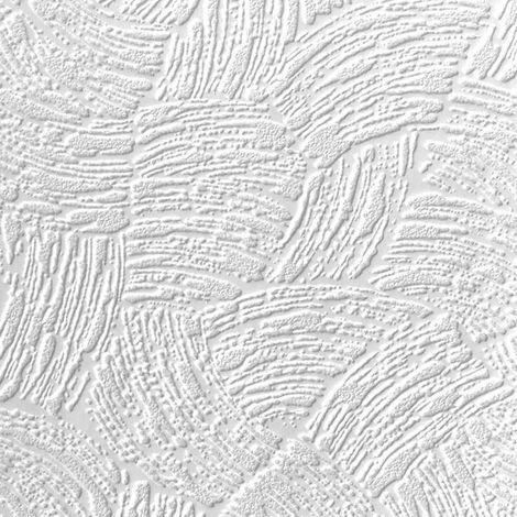 Anaglypta White Paintable Surf Wave Stripes Wallpaper Vinyl Washable Textured