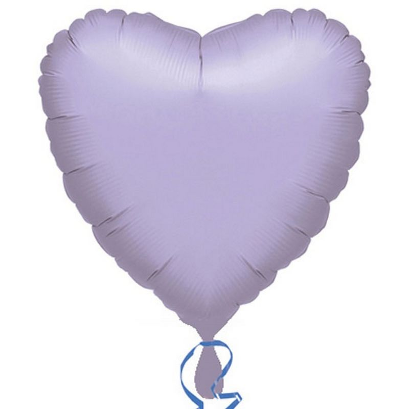 Image of 18in Heart Foil Balloon (Pack Of 10) (18in) (Lilac) - Anagram