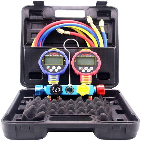 Analizador 4 valvulas manometros digitales GRAN PRESION