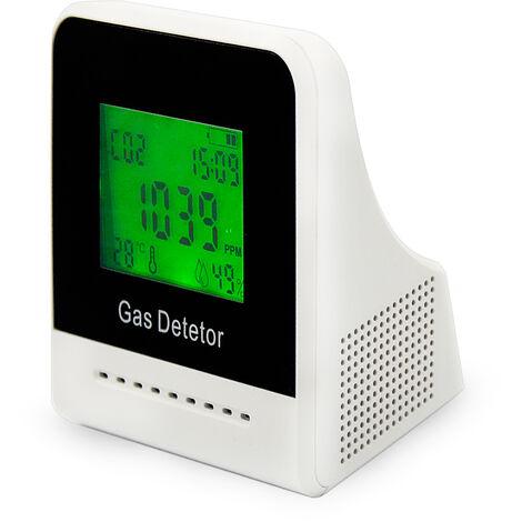 Analizador de temperatura y humedad del aire del detector de dioxido de carbono 4 en 1 para medidor de CO2 digital de CO2 para la oficina en casa, naranja