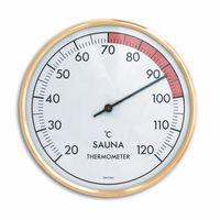 Analoges Sauna-Thermometer mit Metallring
