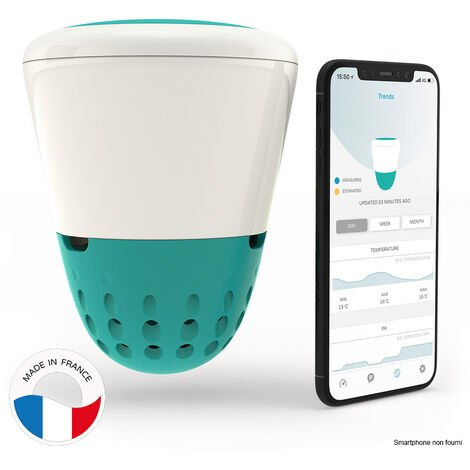 analyseur d'eau connecté wifi + bluetooth - ico pool - ondilo