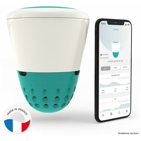 analyseur d'eau connecté wifi + bluetooth - ico pool salt - ondilo