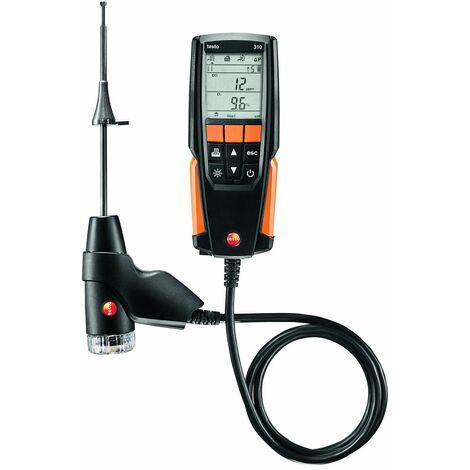 Analyseur Set testo 310 avec sonde, bloc secteur, imprimante, 1 rouleau papier et Mallette, TESTO, ref. 05633110