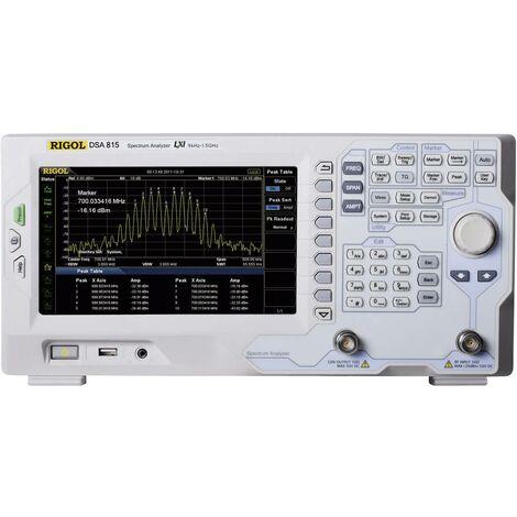 Analyseurs de spectre Rigol DSA815-TG 9 kHz - 1,5 GHz Bandes passantes (RBW) 100 Hz - 1 MHz