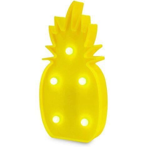 Ananas Decor Light, Lampe de Table Romantique de Ruit, Décorations de Table de Fête à La Maison de Vacances, Décorations Lumineuses pour Enfants, Adultes Chambre à Coucher, Salon.