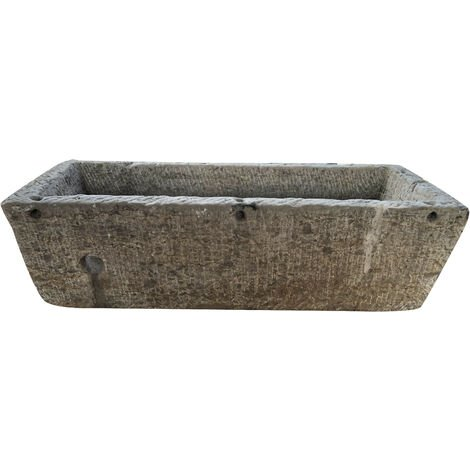 Ancienne baignoire en pierre L142xPR59xH42 cm