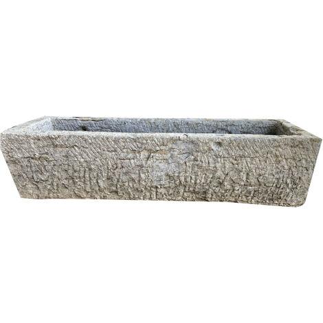 Ancienne baignoire en pierre L182xPR64xH45 cm