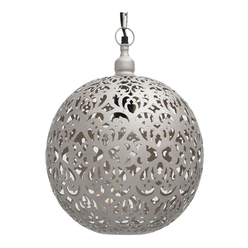 Image of Ancient Marrakesh Hanging Lamp Ball with Heart Etching, 40cm Dia.