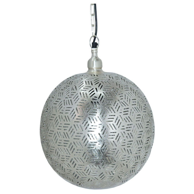 Image of Ancient Marrakesh Hanging Lamp Ball with Hexa Etching