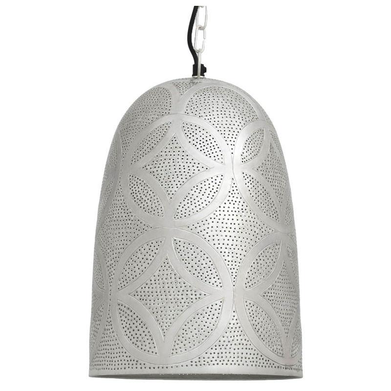 Image of Ancient Marrakesh Hanging Lamp Belljar with Eng Drilling