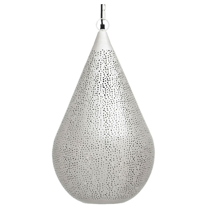 Image of Ancient Marrakesh Hanging Lamp Drop Cone with Mesh Etching