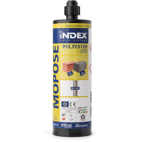 Anclaje Quimico Poliester S/Es 410 Ml - INDEX - Mopose410