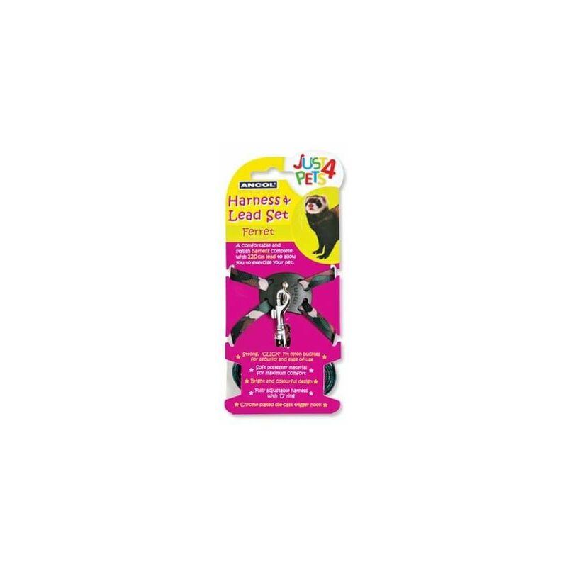 Image of 163900 - Just 4 Pets Indiv Cd Ferret Harness & Lead Set