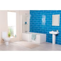 Ancona Bathroom Suite with Left Hand L Shape Shower Bath