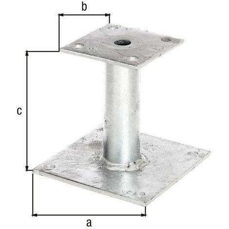 Ancre poteau galvanisée à chaud à cheviller Ø42/150x150