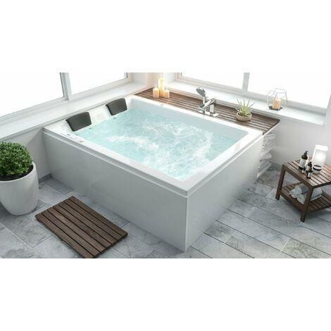 Andalucía Premium Bañera hidromasaje Izquierda sin grifería 180x130x62 cm
