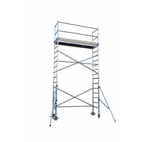 Andamio aluminio Torre PRO 75x190, altura de trabajo 6.2 m