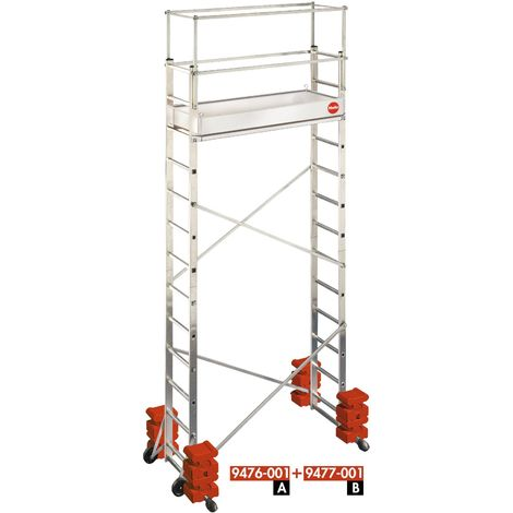 Andamio-escalera móvil - aluminio - ProfiStep® Multi - P7-01-013-V01