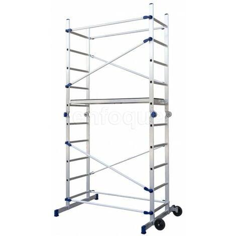 Andamio - Escalera Multiusos Plegable profesional de Aluminio FAST 5
