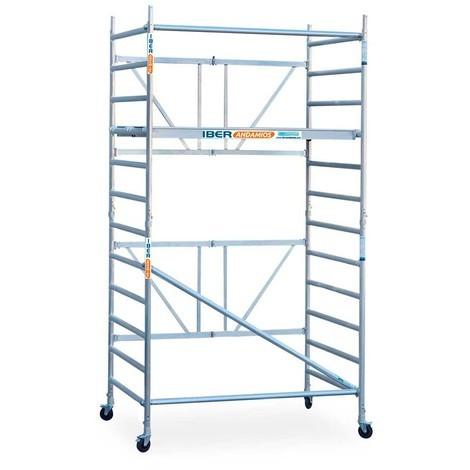 Andamio plegable aluminio 135x190 y 4,70 mts altura de trabajo