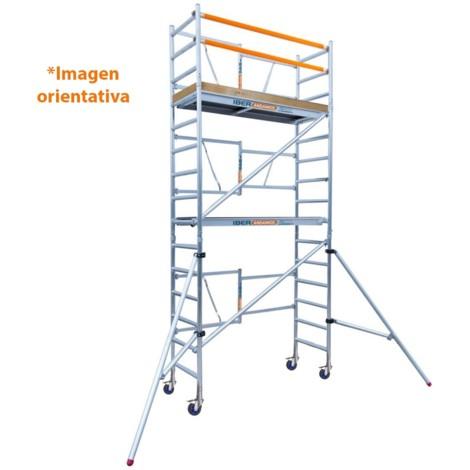 Andamio plegable aluminio 135x190 y 5,70 mts altura de trabajo