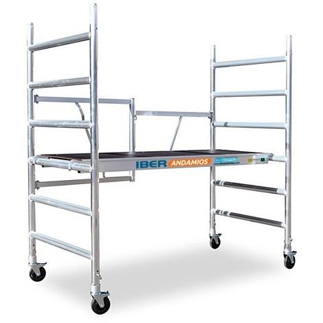 Andamio plegable aluminio 90x190 con 3 metros PLATAFORMA CON TRAMPILLA