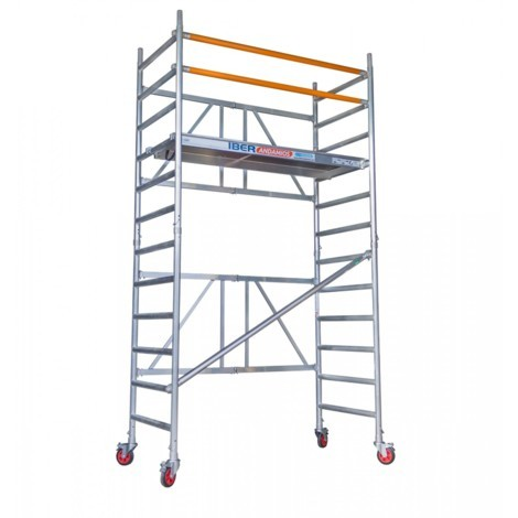 Andamio plegable aluminio 90x190 con 4,70 metros altura de trabajo