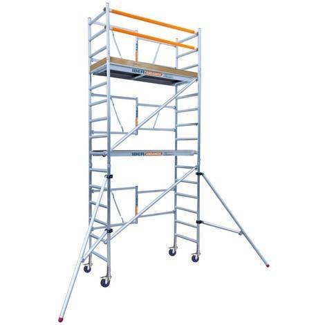 Andamio plegable aluminio 90x190 con 5,70 metros altura de trabajo