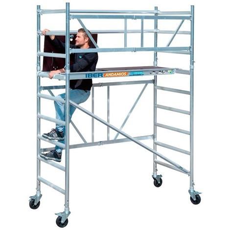 Andamio plegable aluminio 90x190 y 3,85 mts altura trabajo