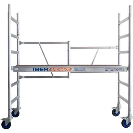 Andamio plegable en aluminio CT26 con plataforma sin trampilla