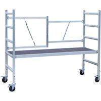 Andamio plegable aluminio EVO, con plataforma sin trampilla, altura de trabajo 3 m