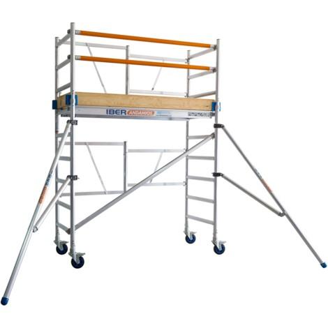 Andamio plegable aluminio IBERANDAMIOS altura de trabajo 3,85 m con rodapiés completo