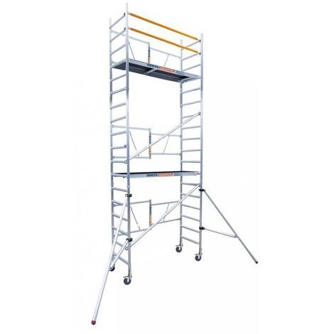 Andamio plegable de aluminio IBERANDAMIOS 6,50 m altura trabajo