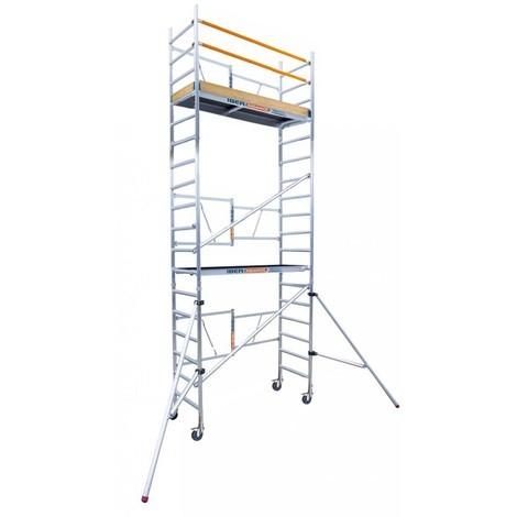 Andamio plegable de aluminio IBERANDAMIOS altura de trabajo 6,50 m