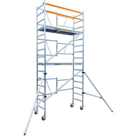 Andamio plegable de aluminio profesional IBERANDAMIOS altura de trabajo 5,70 m