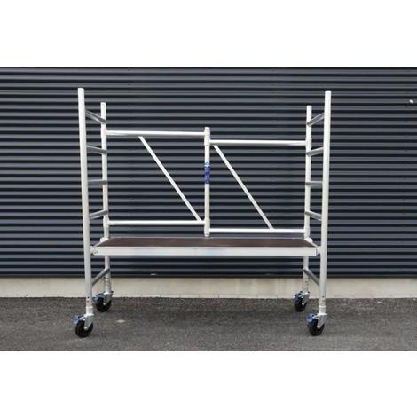 Andamio plegable en aluminio D75-6 plataforma sin trampillla