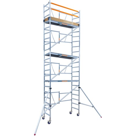 Andamio plegable en aluminio IBERANDAMIOS altura de trabajo 7,50 m