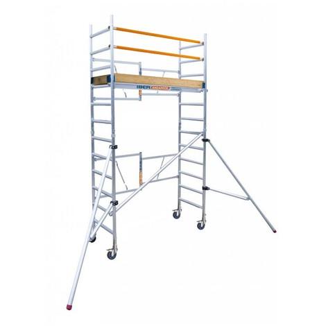 Andamio plegable profesional IBERANDAMIOS altura de trabajo 4,70 m con rodapiés