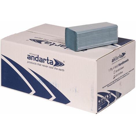 Andarta 02-004 1Ply Green C/Fold Hand Towel 23 x 33cm - Pack Of 2880